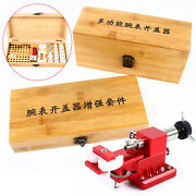 1 Set Watch Case Back Crown Tube Remover Pry Type Cover Opener With Molds Kit