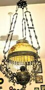 Antique Brass Oil Chandelier Non Electric 48 Stunning Celtic