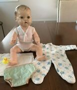 Vintage Tiny Tears Doll - No Tear Ducts - Potty Baby 14andrdquo - Pajamas And Underwear