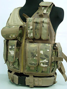 Tactical Hunting Combat Airsoft Vest Water Bag Military Chest Rig Paintball Hari