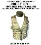 New Us Army Acu Military Molle Flc Fighting Load Carrier Tactical Vest Digi Camo