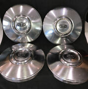 Vintage Lot 4 Ford Dog Dish Poverty Hubcaps Truck Used