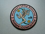 1994-1995 Michigan's Dnr Living Resources Patch Western Chorus Frog -deer-