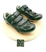 Shimano Womens Black Synthetic Round Toe Hook And Loop Cycling Shoes Size Us 9