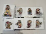 Jim Shore Disney Traditions - Snow White And The 7 Dwarfs - Christmas Ornaments.