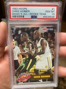Crazy Rare Psa 10 1993 Hoops Magicandrsquos All Rookie Team Chris Webber Nice Looking