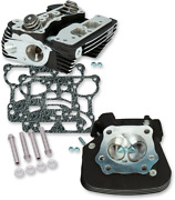 S And S Cycle Super Stock Twin Cam Cylinder Heads Wrinkle Black 91cc 900-0349