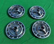 🔥65 66 Chevy Impala Ss Caprice 67 Chevy Ii Spinner Wheel Covers Hubcaps 3893599