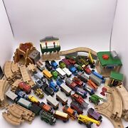 Thomas Wooden Railway Trains Set Lot 100 Thomas And Friends Only Tracks