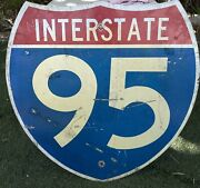 Interstate I-95 Authentic Retired Road Street Sign 24 X 24 - Florida