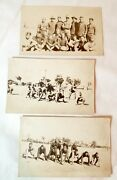 Wwi Era U.s. Army Soldiers Playing Football Rppc Real Photo Postcard Lot 3