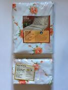 Lot New Rose Bower Twin Size Flat Sheet And 2 Standard Size Pillowcases Vintage