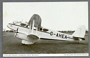 Lancashire Aircraft Corporation Dh-89 Rapide Tuck's Issue Airline Postcard