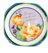 Vtg American Greetings Collectors Plate/holder Peach Roses Purple Forget Me Knot