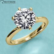 1.00 Ct Solitaire Diamond Engagement Ring Yellow Gold Si1 Msrp 9400 22951931
