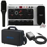 Zoom V6 Vocal Effects Processor With Shotgun Microphone + Ad-16a/d Ac Adapter