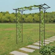 Metal Garden Arch Heavy Duty Strong Rose Climbing Plants Archway Decorative Uk