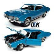 Autoworld Amm1257 1971 Buick Gs Stage 1 Blue Class Of And03971 Annv. Diecast Car 118
