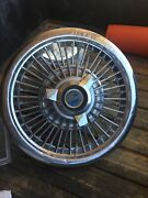 """Ford Mustang Galaxie Fairlane Wire Spoke Spinner Hubcap Wheel Cover 15"""""""