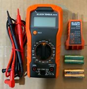 Klein Tools Mm300 Manual Ranging Multimeter With Rt105 Outlet Tester