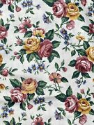Longaberger Cotton Fabric Garden Splendor Floral New By The Yard Bty Retired