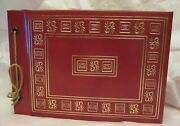 Vintage Scrapbook 1958 First Holy Communion W/ Gift Cards Photos Preist Red Gold