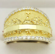 Mens Last Supper Gold Ring 10k Yellow Gold Last Supper Large Head Ring