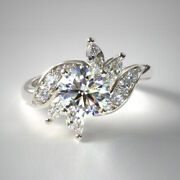 0.91 Ct Vrai Diamant Rond Fianandccedilailles Anneaux Solide 14k Or Blanc Size L M N O1/