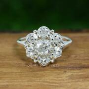 Oec Moissanite Vintage Rings / 0.75 Ct Near Colorless Round Moissanite Ring
