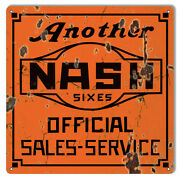Vintage Style Sign Large Distressed Another Nash Gas Station Sign 16x16