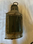Vintage Nautical Copper Port And Stbd Kerosene/alc/oil Lamps. 100+ Years Old