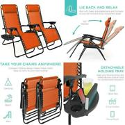 Best Choice Products Set Of 2 Adjustable Steel Mesh Zero Gravity Lounge Chair Re