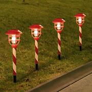 6 Pack Christmas Solar Pathway Lights Outdoor -solar Stake Lights Waterproof ...