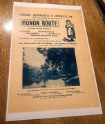 Monon Railroad Advertising - French Lick Springs - Paoli - West Baden - Indiana