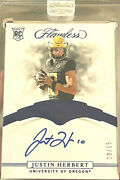 Justin Herbert Rare 1 Of 1 Jersey Number 2020 Flawless Sapphire Rookie Auto /15
