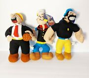 Popeye Bluto Brutus And Wimpy 3 Plush Lot W/ Tags Sugarloaf