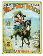 Vintage Style Sign Mail Pouch Tobacco Cigar Sign 9x12
