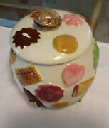 Napco L.a. Pottery All Over Cookies Cookie Jar Very Nice Condition Rare
