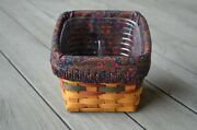 Longaberger 1998 Fathers Day Finders Keeper Basket Liner And Protector Combo Euc