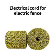 500m Roll Electric Fence Wire Nylon Animal Livestock Wire Fence Conductive Rope