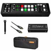 Roland V-1hd Str Video Switcher + Uvc-01 W/ Roland Carry Bag Hdmi Cable And Strap