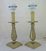 Couple Small Lamps For Bedside Table Vintage Made By Hand In Italy Lampshade