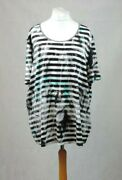 Samoon By Gerry Weber Striped T-shirt With Sequin Stripes 28 Uk Cr017 Dd 17