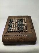 Vintage Antique Comptometer Number Adding Machine Not In Working Condition