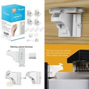 Child Safety Magnetic Cabinet Locks - Vmaisi 4 Pack Adhesive Baby Proofing Cabin