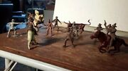 Marx 1950s 54mm Roy Rogers Cowboy Lot Western Ranch Rodeo Figures
