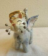 Amy Lacombe Angel Cat Original Handmade And Hand Signed Collectible