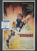 Director Richard Donner Signed Goonies 11x17 Movie Poster Photo Blue 3 Bas Coa