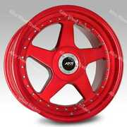 18 Rouge 04 Roues Alliage Pour Opel Adam Astra G H Corsa D E F Gt Meriva 5x110