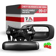 T1a Tailgate Handle Latch And Bezel Trim Replacement For 1999 - 2007 Chevy Si...